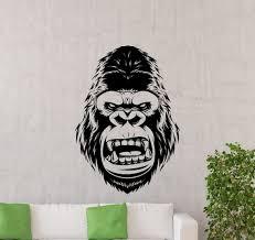 King Kong Wall Decal Movie Vinyl Sticker Godzilla Gorilla Etsy