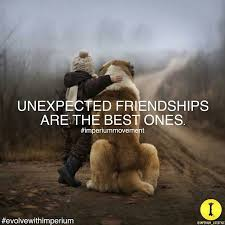 unexpected friendships are the best one unexpected friendship