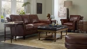 leather sofa on from bradington young