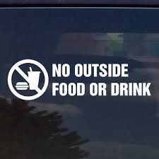Amazon Com No Food Or Drink Vinyl Decal Sticker For Stores Businesses Office Products
