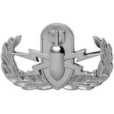 Senior Parachutist Silver Metal Auto Emblem Decal Patriot Accessories Exterior Accessories Emblems