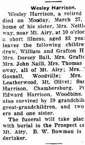 HARRISON, Wesley - Obituary - Newspapers.com