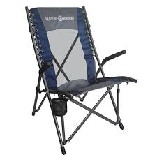 High Back Bungee Camp Chair Blue Gray Camping World
