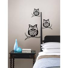 Wall Pops Black Give A Hoot Wall Decal Wpk96848 The Home Depot