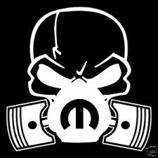 Skull Dodge Mopar Mask Piston V8 Vinyl Decal Sticker Car Truck Window Ebay