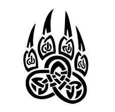 Amazon Com Celtic Bear Paw Vinyl Decal Celtic Wall Art Celtic Knot Stickers Celtic Knot Decals Handmade