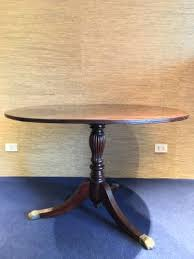 vintage wooden round dining table with