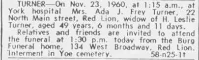 Ada Turner death notice - Newspapers.com