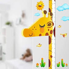 Amazon Com Baby Height Growth Chart Ruler For Kids Room Decor 3d Movable Giraffe Height Ruler Nursery Animal Wall Decals Baby