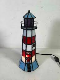 stained glass lighthouse lamp works