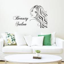 Mew Arrival Vinyl Sticker Beautiful Girl With Long Wall Stickers Hair Beauty Salon Shop Window Wall Decor Removable Decals Za299 Vinyl Stickers Wall Decorsticker Beauty Aliexpress