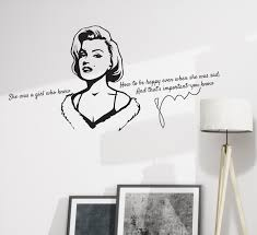 Wall Decal Marilyn Monroe Beauty Girl Motivational Quotes Vinyl Decor Wallstickers4you