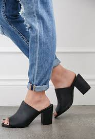 faux leather p toe mules forever