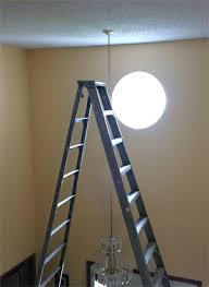 light fixture in a two story entryway