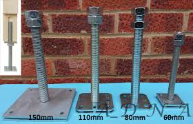 Heavy Duty Galvanised Elevated Adjustable Bolt Down Post Fitting Support Base A D N A Components