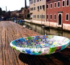 blown murano glass plates wall art