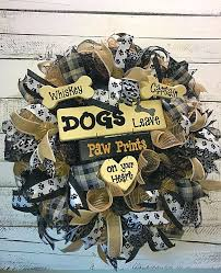 RESERVED FOR POLLY MARTIN, Doggie Wreath, Dog Wreath for Front ...