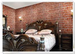 wallpaper wall paper brick retro pvc