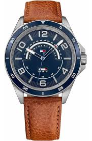 tommy hilfiger ian brown leather strap