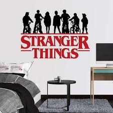 Amazon Com Laurye Stranger Things Wall Decals Adventure Ele Mike Decal Stickers For Home Decoration Children Bedroom Wall Decor Home Kitchen