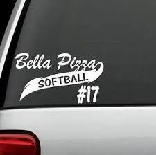 Custom Personalized Sports Softball Team Vinyl Decal Sticker For Car Truck Suv Ebay