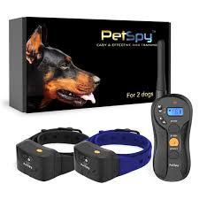 Petspy P620b Dog Training Shock Collar For 2 Dogs With Vibration Electric Shock Beep Fully Waterproof Remote Trainer With Two E Collars 10 120 Lbs Walmart Com Walmart Com