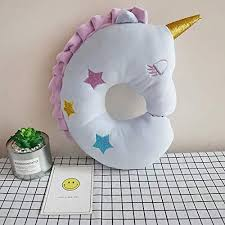 Unicorn Travel Pillow For Kids Soft Plush Animal Neck Pillow For Sleeping In Car U Shaped Cushion Throw Pillow For Baby Girls Daughter Women Room Decor Unicorn Gifts For Christmas Birthday Blue Toys Games Toys