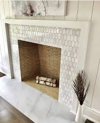style to your fireplace with elongated hex