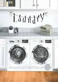 Laundry Clothesline Vinyl Wall Decal Laundry Room Vinyl Wall Etsy