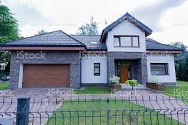 Modern House Exterior With Brick Walls Stock Photo Download Image Now Istock