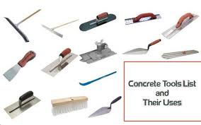 concrete tools list and their uses