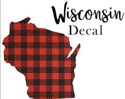 Wisconsin Decal Etsy