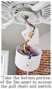 fix a ceiling fan light switch pull chain