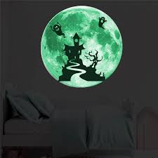 Luminous Moon Wall Sticker For Kids Room Home Decor Glow In The Dark Christmas Halloween 3d Moon Baby Bedroom Wall Decals Muraux Wall Stickers Aliexpress