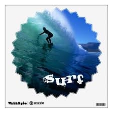 Wall Decal Surf Wall Sticker Zazzle Com