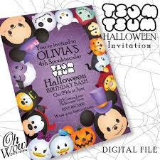 Classic Tsum Tsum Theme Halloween Party Invitation By Ohwowdesign