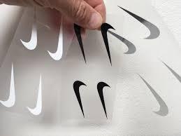 Nike Swoosh Logo Iron On Sticker Heat Transfer Customeazy