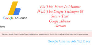 fix ads txt file error in minutes with