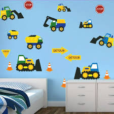 Construction Themed Wall Decals Wall Decals For Boys Room Boys Wall Decor Boy Room Wall Decor Wall Stickers Bedroom