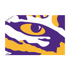 Lsu Tigers Eye Of The Tiger Officially Licensed Wall Art College Wall Art