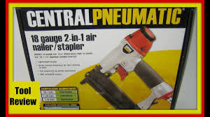 Tool Review For Harbor Freight Pneumatic Nail Gun Youtube