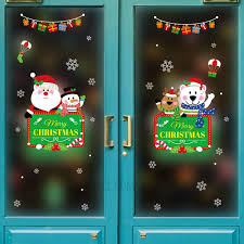 Bestselling Merry Christmas Removable Pvc Window Decal Sticker Christmas Decoration Whole Sale Tvc Mall