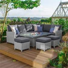 matara rattan corner sofa dining garden