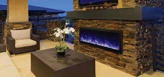 modern outdoor electric fireplace