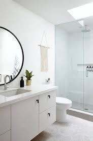 large round bathroom mirror white