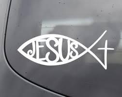 Jesus Fish Decal Etsy