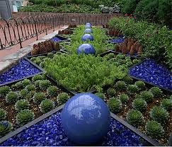 recycled glass rocks the landscape