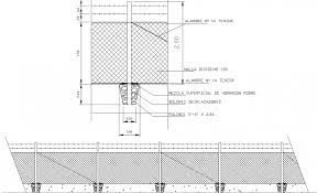 Barbed Wire Boundary Fence Drawing In Dwg Autocad File Barbed Wire Autocad Fence