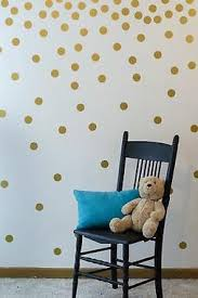 Gold Wall Decal Dots Easy To Peel