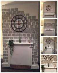 diy how to paint a faux brick fireplace